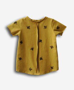 tshirt bees gold
