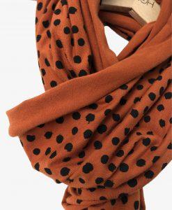 scarf pumpkin dots